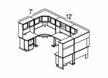 Bush Advantage Pewter Design 42 - Plan For 12' by 7' Work Station