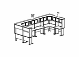 Bush Advantage Pewter Design 49 - Plan For 16' by 7' Work Station