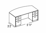 "Bush C Series Corsa Maple Design 1 - Plan For 3' 2"" x 5' 11"" Work Station"