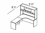 "Bush C Series Corsa Maple Design 11 - Plan For 5' 11"" x 6' 11"" Work Station"