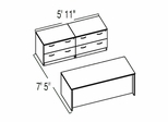 "Bush C Series Corsa Maple Design 13 - Plan For 5' 11"" x 7' 5"" Work Station"