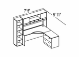 "Bush C Series Corsa Maple Design 15 - Plan For 5' 11"" x 7' 5"" Work Station"