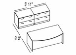 "Bush C Series Corsa Maple Design 17 - Plan For 5' 11"" x 8' 2"" Work Station"