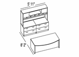 "Bush C Series Corsa Maple Design 18 - Plan For 5' 11"" x 8' 2"" Work Station"