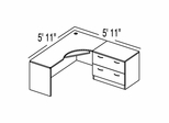 "Bush C Series Corsa Maple Design 2 - Plan For 5' 11"" x 5' 11"" Work Station"