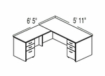 "Bush C Series Corsa Maple Design 7 - Plan For 5' 11"" x 6' 5"" Work Station"