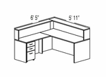 "Bush C Series Corsa Maple Design 8 - Plan For 5' 11"" x 6' 5"" Work Station"