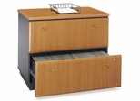 Bush Lateral File Cabinet - Series A Natural Cherry Collection - WC57454A