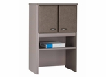 """Bush Series A - 24"""" Storage Hutch Pewter Collection - Bush Office Furniture - WC14525"""