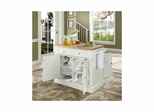 Butcher Block Top Kitchen Island in White - CROSLEY-KF30006WH