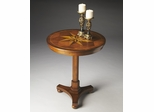 Butler Antique Cherry with Starburst Inlay Accent Table