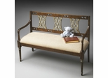 Butler Appaloosa Bench with Hand Carved Back