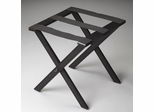 Butler Black Licorice Luggage Rack with Heavy Duty Cloth Straps