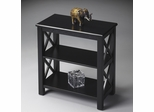 "Butler Black Licorice Petite ""X"" Sided Bookcase"