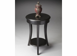 Butler Black Licorice Round Accent Table