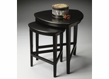 Butler Black Licorice Rounded Triangular Shaped Nesting Tables