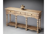 Butler Blanched Almond Moroccan-inspired Console Table