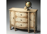 Butler Chateau Gray Console Cabinet with Three Dovetailed Drawers