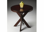 "Butler Chocolate Double ""X"" Accent Table"