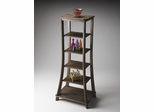 Butler Cocoa Six Rectangular Shelves Etagere
