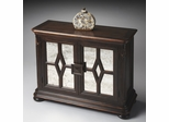 Butler Connoisseur's Console Cabinet with Antique-mirror Treatment Doors