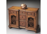 Butler Connoisseur's Console Chest with Open-scroll Paneled Doors