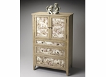 Butler Connoisseur's Tall Door Chest with Printed Fabric Inlays