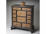 Butler Connoisseur's Two-tone Ebony and Smoked Maple Drawer Chest