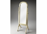 Butler Cottage White Cheval Mirror with Swivel-tilt Design