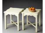 Butler Cottage White Chippendale Antique Inspired Bunching Table