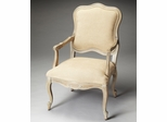 Butler Creme Driftwood Accent Chair