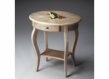 Butler Driftwood Distressed Oval Accent Table