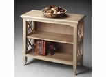 Butler Driftwood Low Bookcase Console