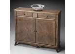 Butler Dusty Trail Aged Distressed Console Cabinet