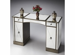 Butler Glitzy Mirror and Pewter Trim Vanity