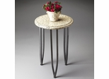 Butler Handcrafted Accent Table Egg-shell Veneer Top