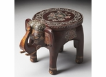 Butler Handpainted Elephant Accent Table Far East Artifacts