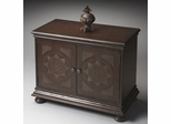Butler Heritage Brown Adorning Nails Console Cabinet