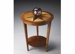 Butler Honey Accent Table with Engaging Starburst Top