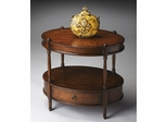 Butler Madrid Brown Two-tier Oval Accent Table