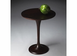 Butler Merlot Round Accent Table