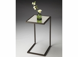 Butler Metalworks C-shaped Mirror Top Accent Table