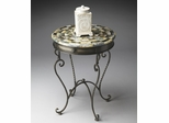 Butler Metalworks Curvaceous Scrolled Pewter Accent Table
