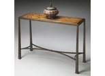 Butler Metalworks Distressed Honey Brown and Pewter Console Table