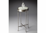 Butler Metalworks Exotic Aluminum, Wood and Glass Blend Accent Table