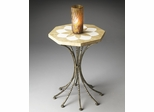 Butler Metalworks Platinum Finished Octagonal Accent Table
