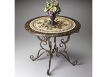 Butler Metalworks Snakeskin Fossil Stone Pattern Etched Foyer Table