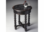 Butler Midnight Rose Carved Parquet-effect Top Round Accent Table