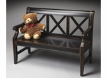 Butler Midnight Rose Transitional X Back Bench