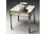 Butler Mirror Antiqued Decor with Pewter Finish Accent Table